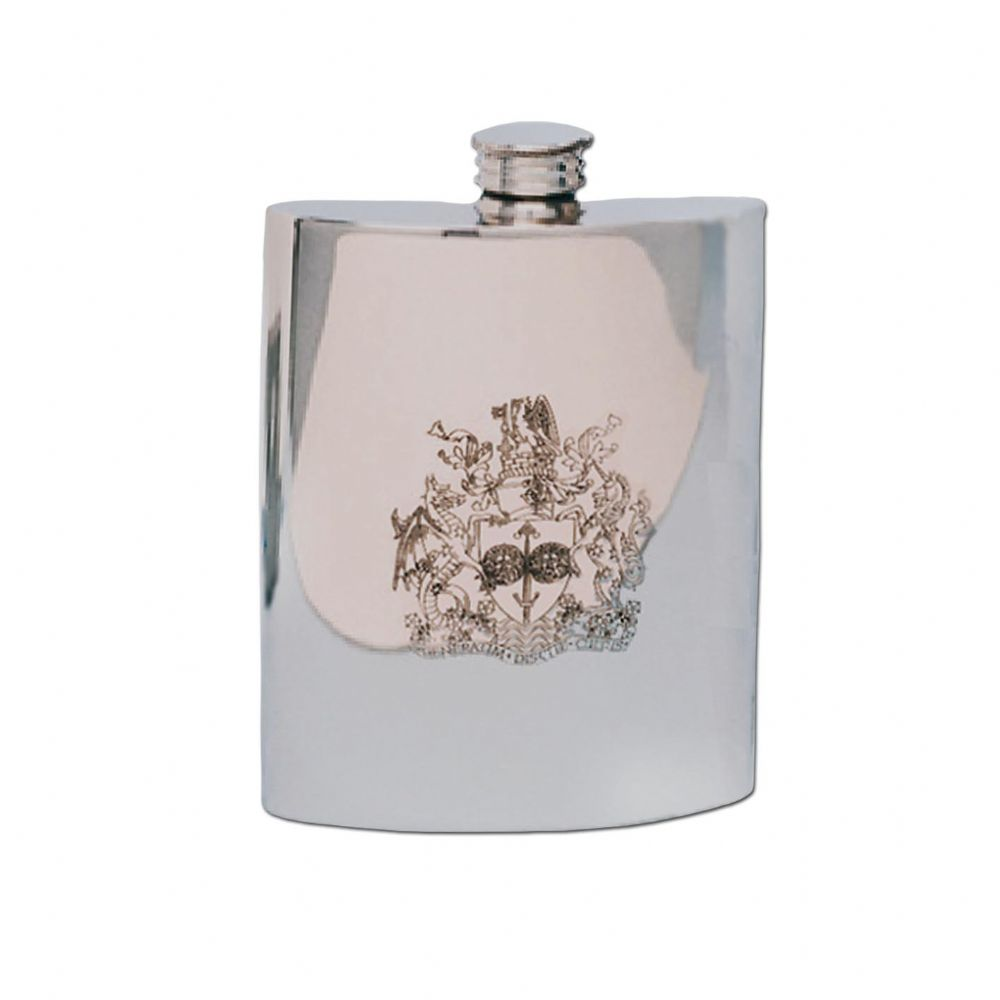 University of Bath Traditional Pewter Hip Flask